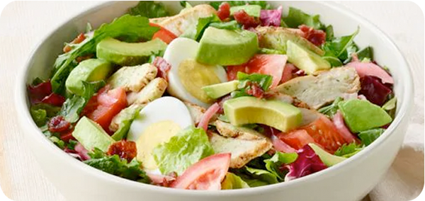Keto Friendly Restaurants, Panera Bread Green Goddess Cobb Salad (half portion) | HighKey Snacks