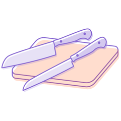 Meal Prep Made Easy with good knives laying on a cutting board