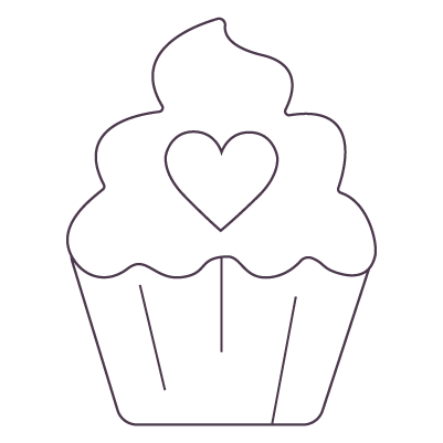 low carb during the holidays cupcake icon because it is okay to treat your self