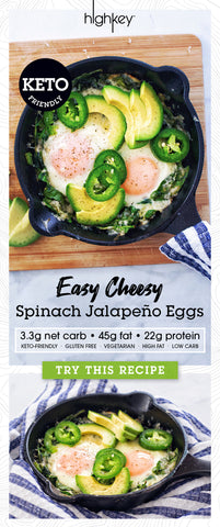 pin this recipe for keto friendly jalapeno spinach cheesy eggs