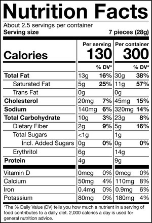 vanilla shortbread nutrition facts