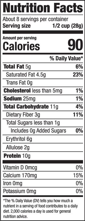 HighKey Protein Cereal Cinnamon Nutrition Facts