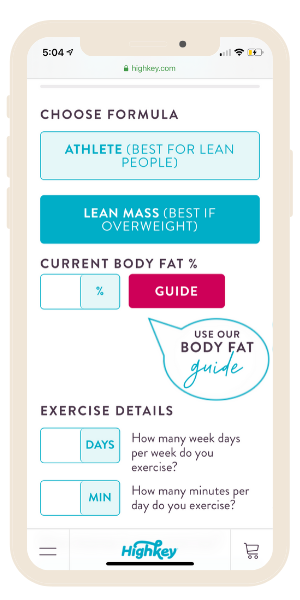 water and weight loss calculator