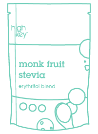 What is Erythritol green doodle of HighKey Monk Fruit Stevia Erythritol sugar substitute blend
