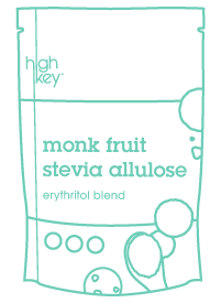 What is erythritol green doodle of HighKey Monk Fruit Stevia Allulose Erythritol sugar substitute blend