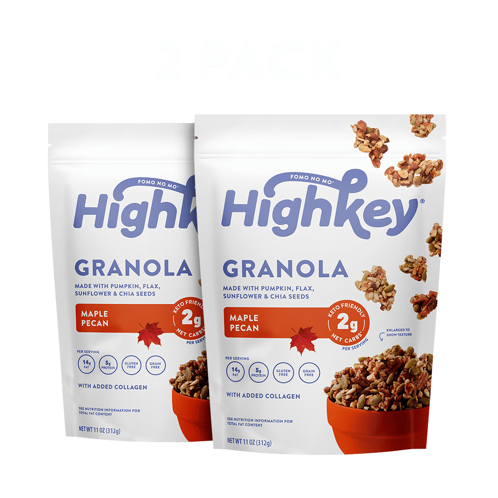 Highkey Low Net Carb Breakfast Cinnamon Almond Low Carb Granola Flavor - 2pk