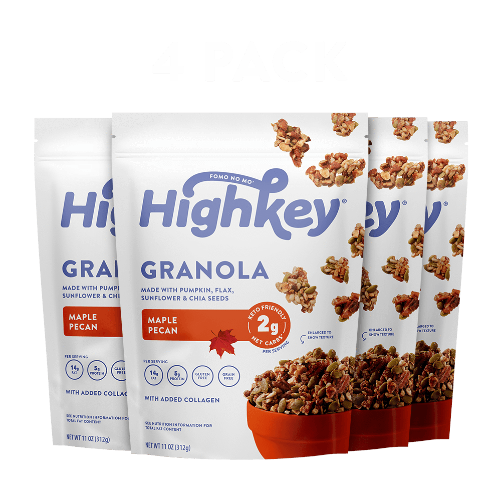 Highkey Low Net Carb Breakfast Cinnamon Almond Low Carb Granola Flavor - 4pk