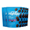 Highkey Low Net Carb Baked Goods Double Chocolate Brownie Mini Cookies Flavor 6 pack 2 oz.