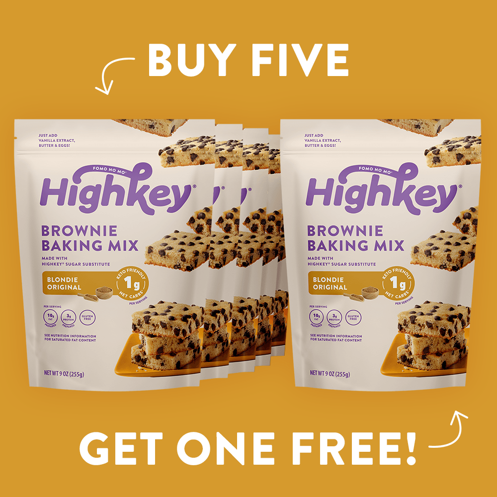 Highkey Low Net Carb Baked Goods Chocolate Chip Mini Cookie Packs Flavor