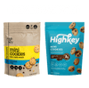 Highkey Keto-Friendly Baked Goods Chocolate Chip Mini Cookie Packs 2 oz. Flavor  Packaging May Vary