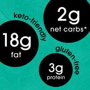 2g net carbs | 18g fat | 3g protein (keto friendly - gluten free)