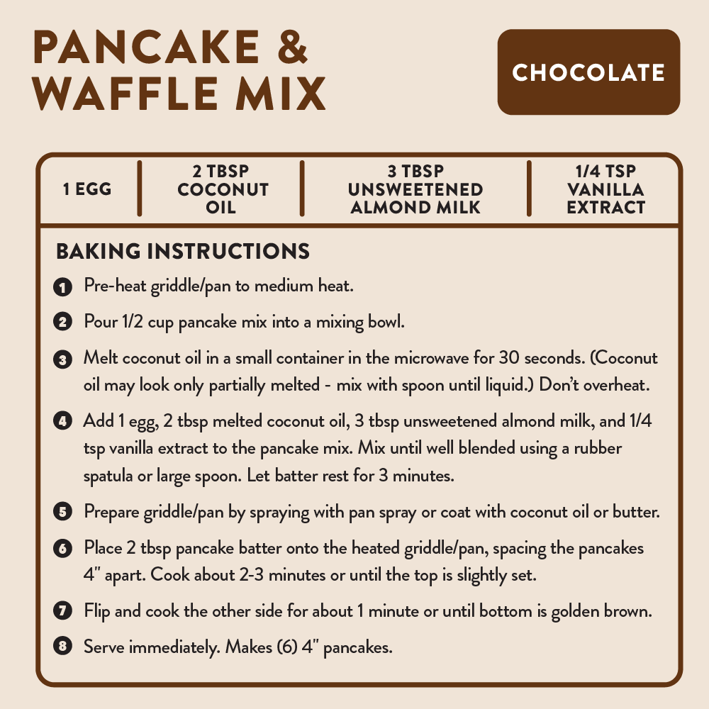 pancake mix baking instructions