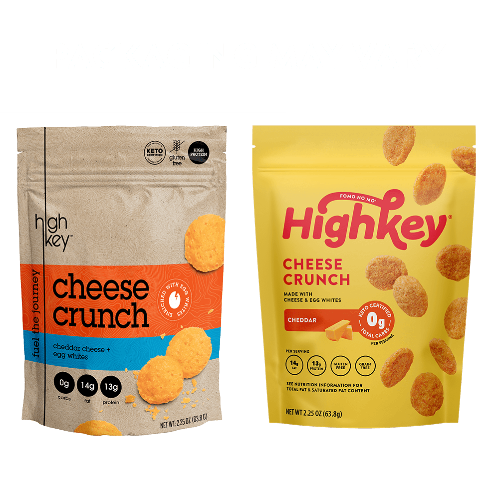Highkey Keto-Friendly Cheese Crunch Cheddar Cheese Crunch (4 Pk) Flavor  Packaging May Vary