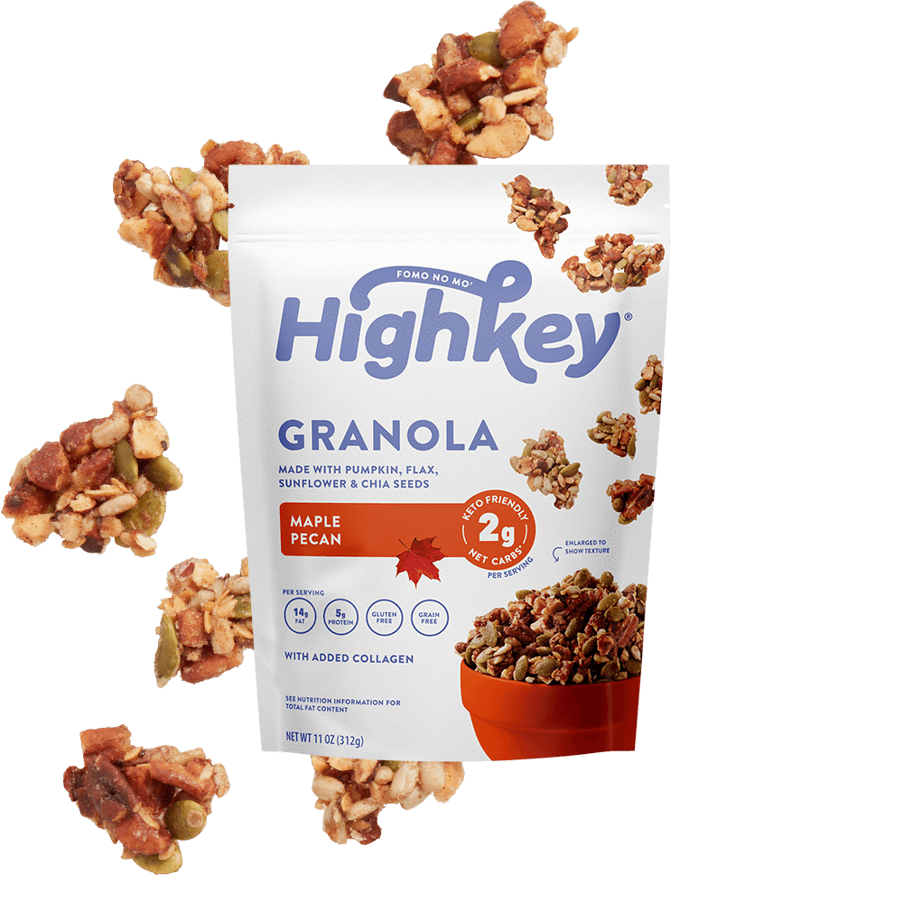 Highkey Low Net Carb Breakfast Cinnamon Almond Low Carb Granola Flavor