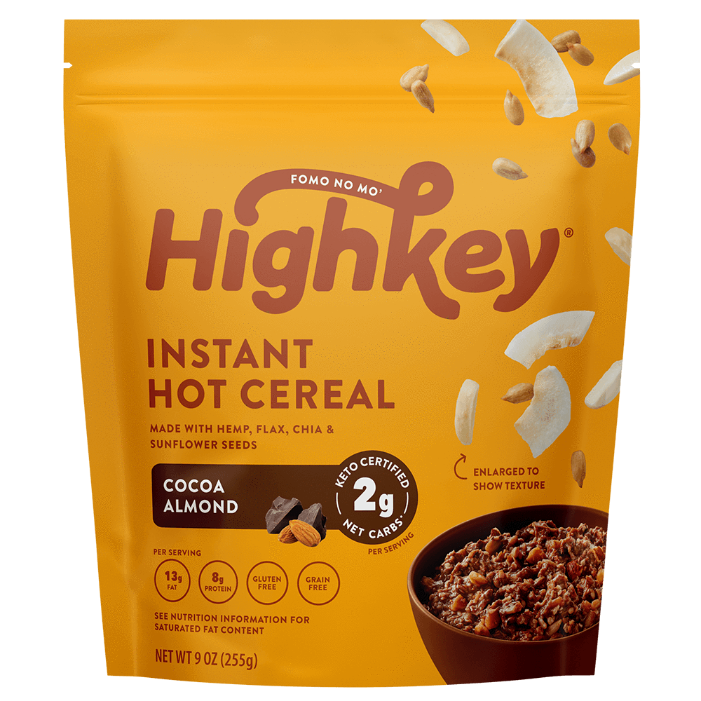 Highkey Low Net Carb Breakfast Cocoa Almond Hot Cereal Flavor