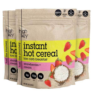 Strawberries & Cream - Instant Hot Cereal (Pack of 3) - HighKey