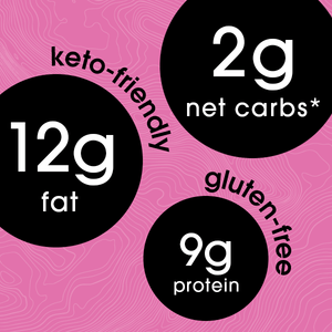 2g net carbs | 12g fat | 9g protein (keto friendly - gluten free)