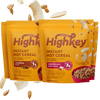 highkey hot cereal bundle cinnamon spice and strawberries & cream flavor 4pk