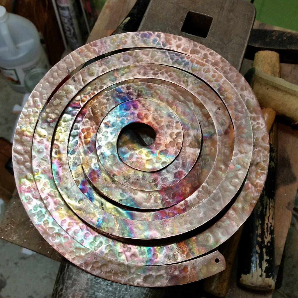 Spiral Copper Mobile