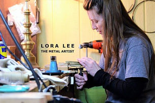 woman, female, worker, shop, studio, jewelry maker, small business owner, loraleeartist, loralee, metal art, metal, copper, sculpture, jewelry, maker, creator, handmade, handcrafted, artist,