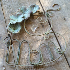 MOM suncatcher, heart, copper, handmade, LoraLeeArtist, flowers, patina
