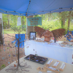 jewelry, booth, display, art festival, vendor, angel, coin jewelry, booth set up, loraleeartist, centsations