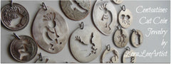 cut coin, coin, coin jewelry, coins, centsations, jewelry, handmade, loraleeartist, lora lee artist,