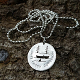 Sterling Silver Shit Creek Survivor Pendant - Custom - LoraLeeArtist