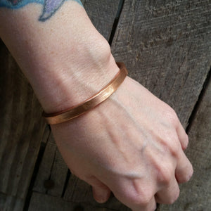 4 Gauge Hammered Flat Copper Cuff - LoraLeeArtist