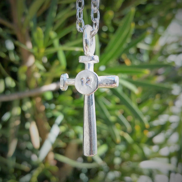 Baseball Bat Cross Pendant - Custom