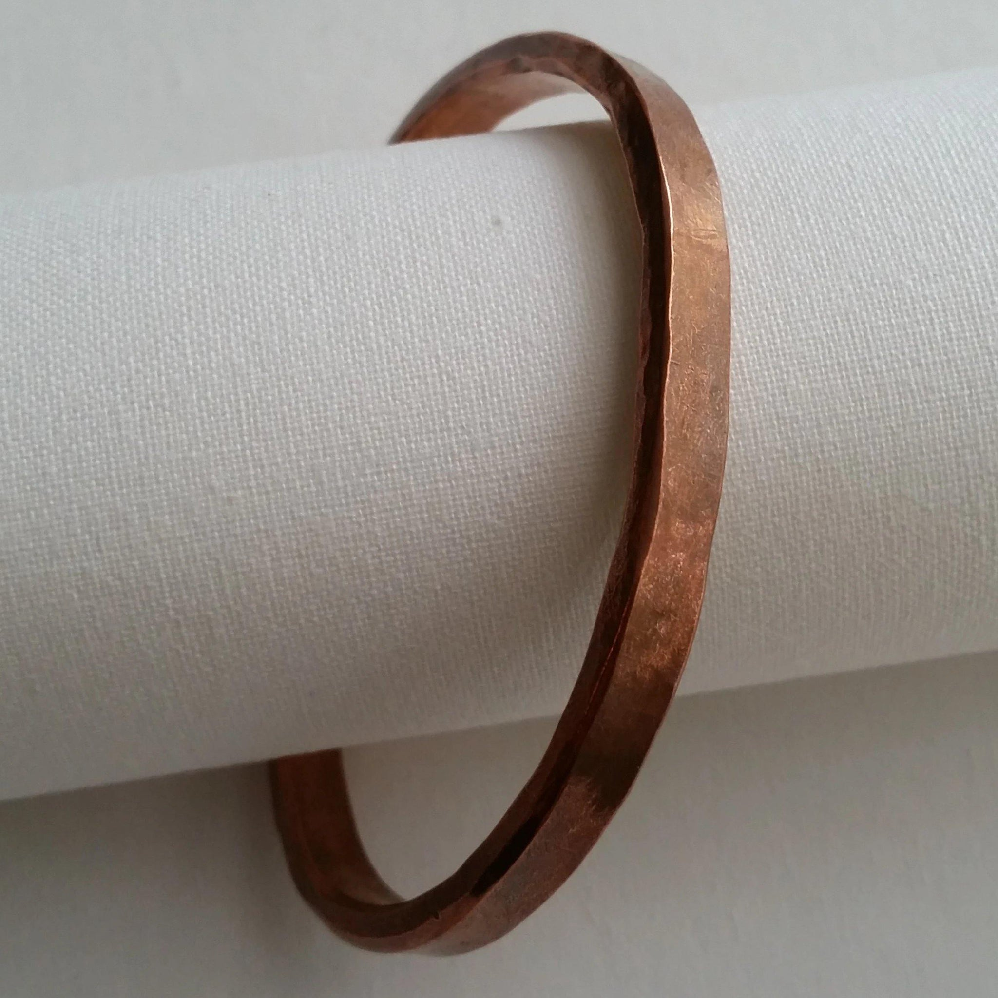 Hammered Flat Copper Cuff
