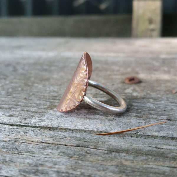 Ivy Textured Copper Ring