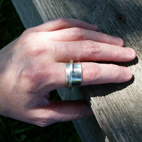 Sterling Silver Spinner Ring - LoraLeeArtist