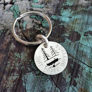 Sterling Silver Shit Creek Survivor Pendant or Keychain  - Custom
