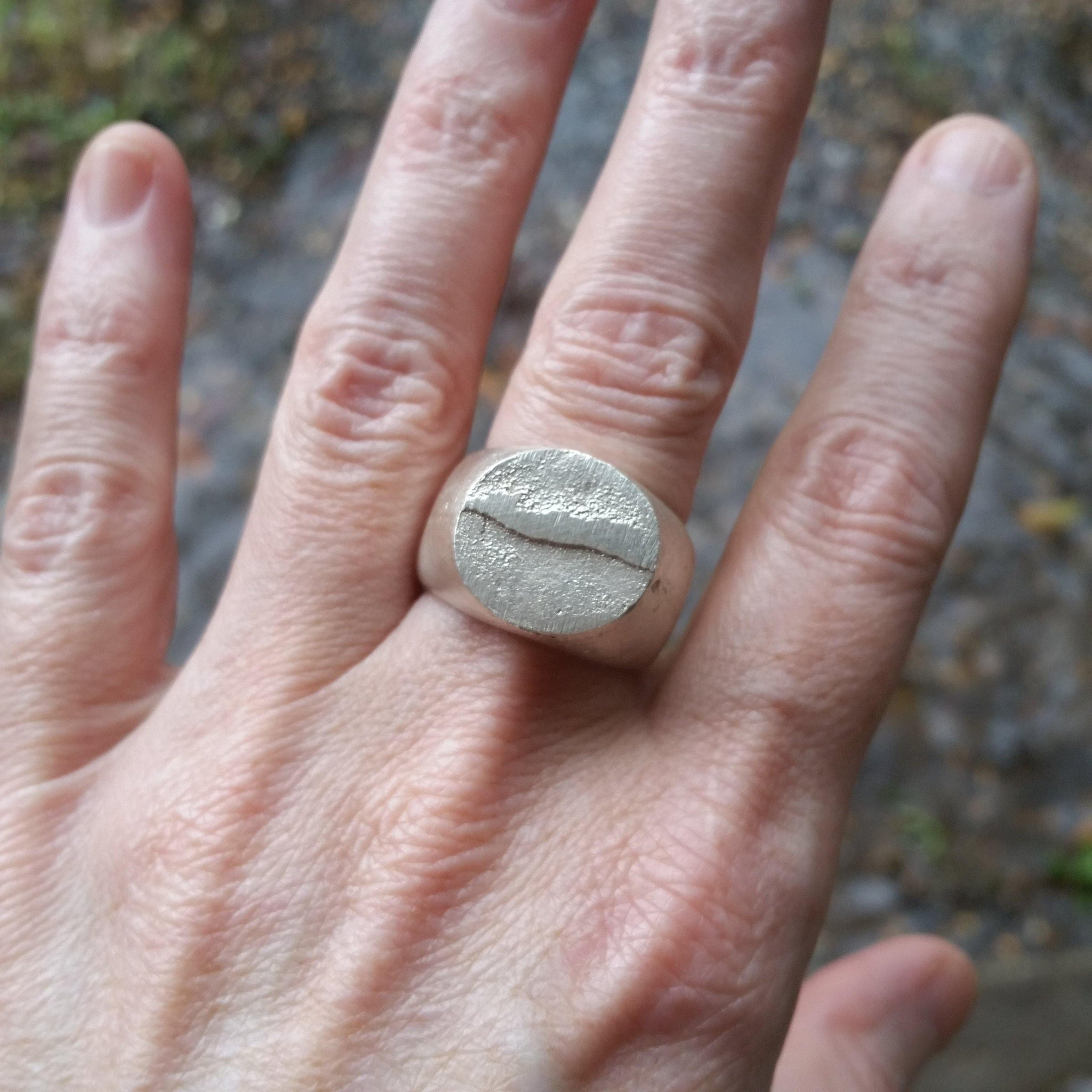 Raw Sterling Silver Ring