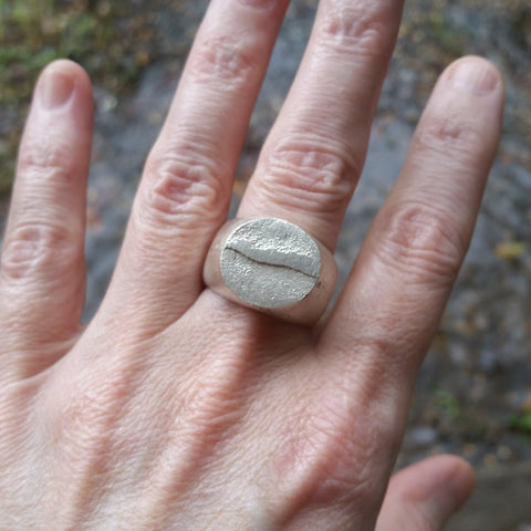 Raw Sterling Silver Ring - Custom - LoraLeeArtist