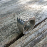 Rock Star Sterling Silver Ring - LoraLeeArtist