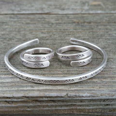 Mountain Dreaming Silver Ring Or Cuff - Custom