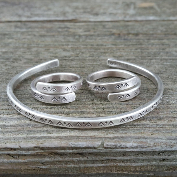 Mountain Dreaming Silver Ring Or Cuff - Custom - LoraLeeArtist