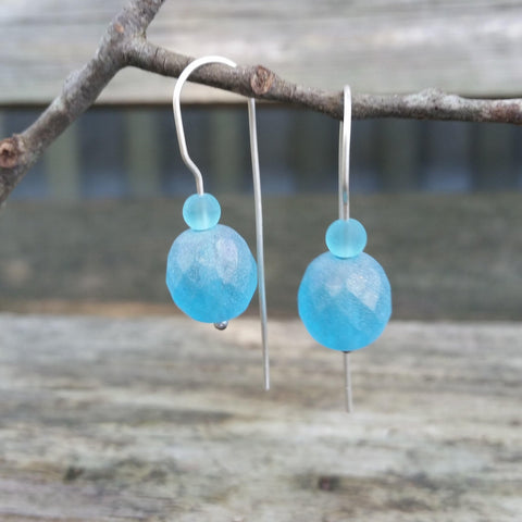 Blue Beauties Silver Earrings
