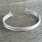 Multi - Strand Hammered Cuff - Custom