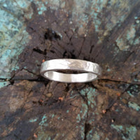 Hammered Sterling Silver Ring - LoraLeeArtist