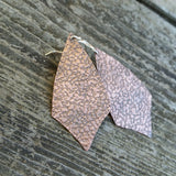 Textured Copper Earrings