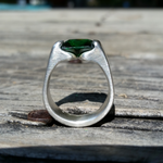 Emerald CZ Sterling Silver Ring