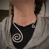 Copper Spiral Torque Necklace - Custom - LoraLeeArtist