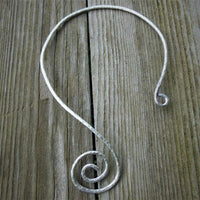 Sterling Silver Spiral Torque Necklace - Custom - LoraLeeArtist