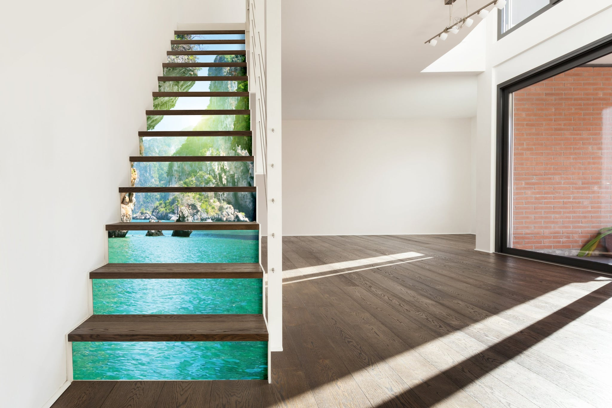 Green Sea - Stickers for stairs NS002 - Art Life Decor