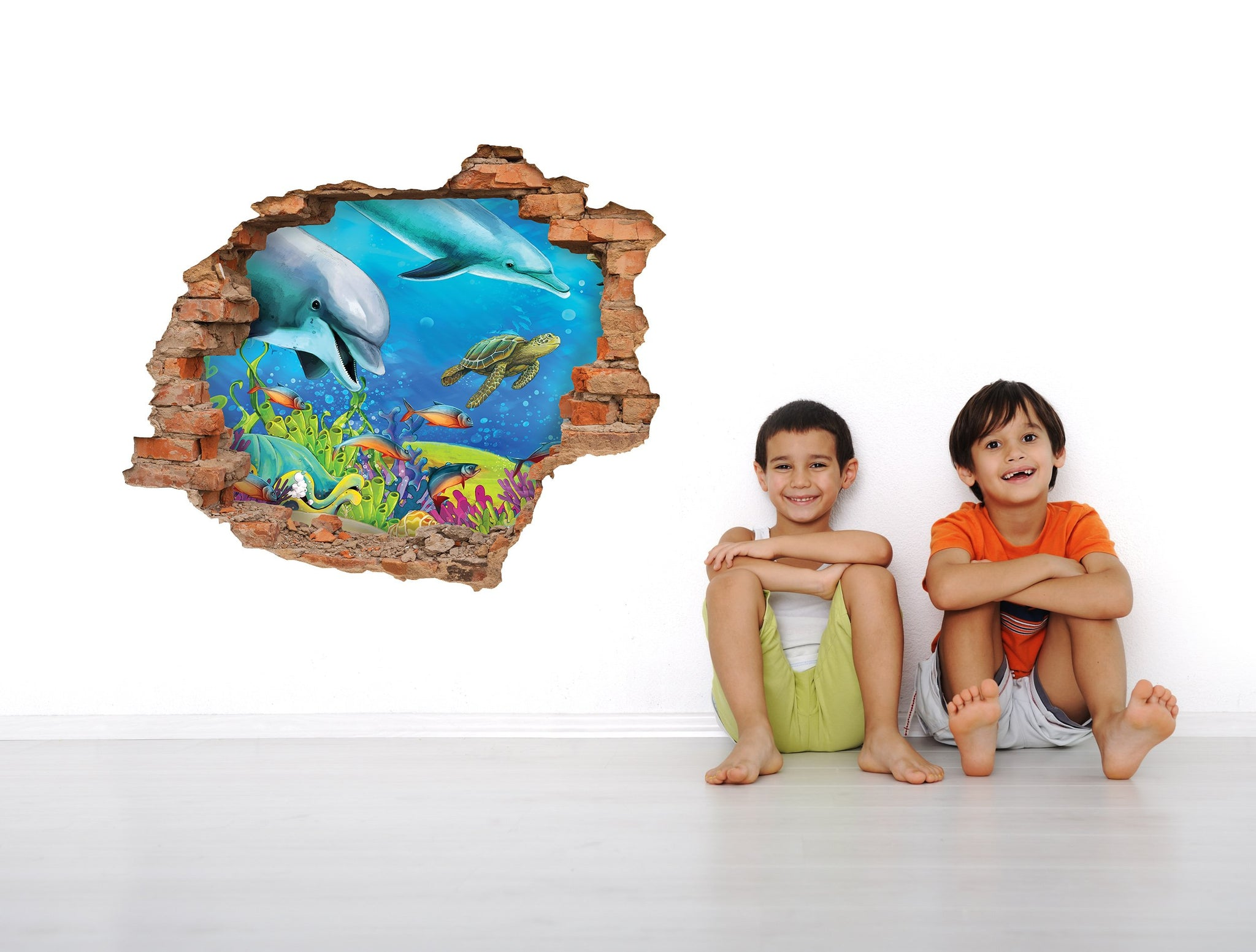 3D Art Wall stickers Dolphins - 3D035 - Art Life Decor
