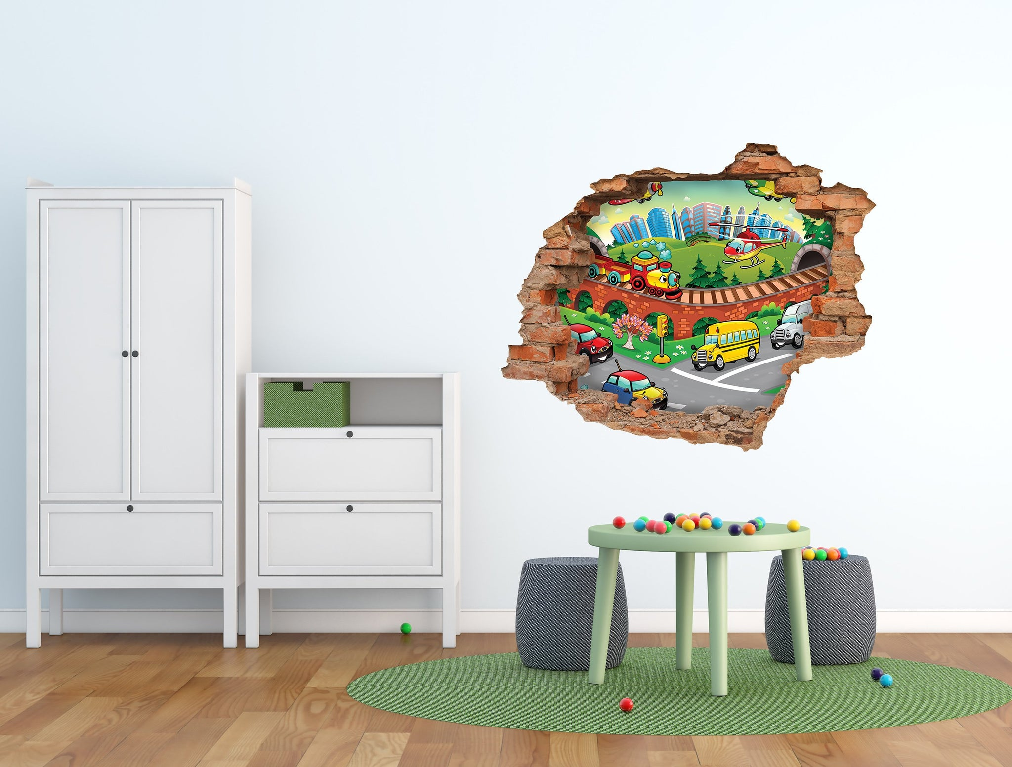 3D Art Wall stickers Cars - 3D052 - Art Life Decor