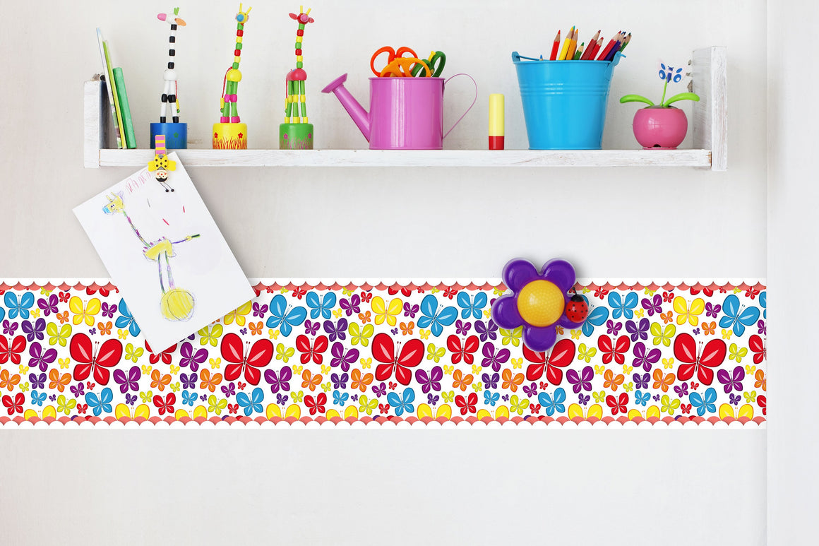 Self Adhesive Border Butterfly BR005